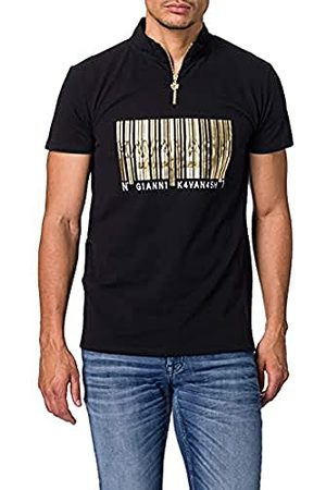 Gianni Kavanagh Black Barcode Poloshirt voor heren