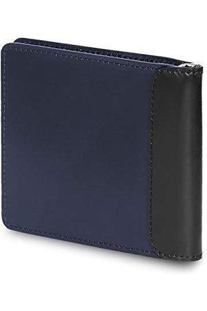 Moleskine Klassieke lederen clip portemonnee, 10 zakken voor creditcards en tickets en 1 interne geldclip, maat 11 x 9,5 x 1,5 cm, saffier
