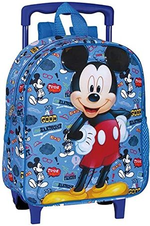 PERONA BAGS Mickey Mouse 'Famous' rugzak met wielen