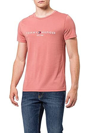 Tommy Hilfiger Heren Tommy Logo Tee T-Shirt, Rood (Haute Red 611), XX-Large