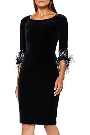 Gina Bacconi Vrouwen fluwelen veren Trim jurk Cocktail