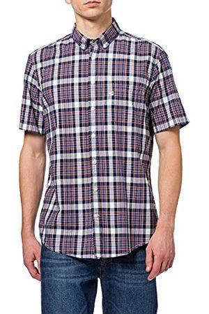 Camel Active Heren Casual - Heren 4092185S5549 overhemd, donkerblauw, 4XL