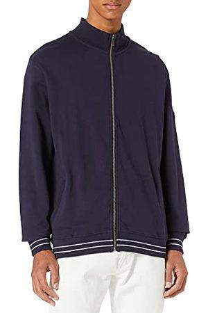 Blue Seven Sweatjack voor heren met opstaande kraag en ritssluiting, lichte katoenen jas.
