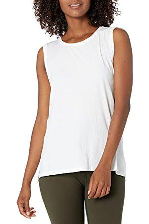 CORE Amazon Brand - vrouwen zachte Pima katoen stretch volledige dekking Yoga Mouwloze Tank,Kleur: ,2X Plus