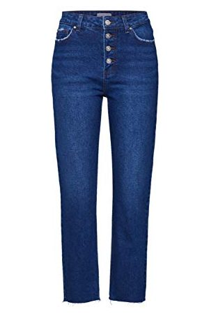 ONLY Dames Onlemily Fly Button CRP ANK DNM Straight Jeans