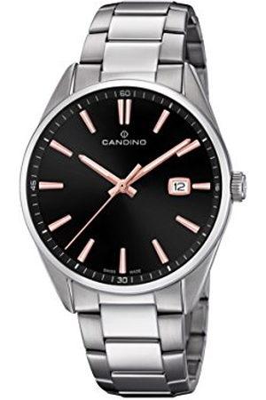 Candino Heren datum klassiek kwarts horloge met roestvrij stalen armband C4621/4