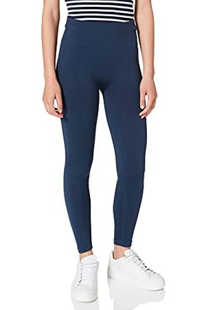 Heart And Soul Dames -Shiny Ribbed sportieve leggings, Space Blue, Regular