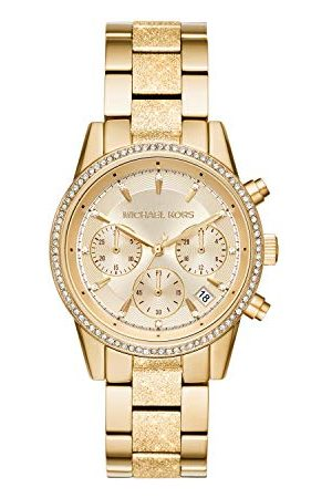 Michael Kors Dames chronograaf kwarts horloge met roestvrij stalen armband MK6597