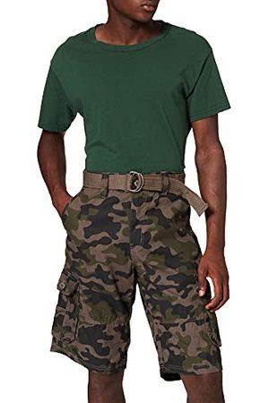 Southpole Belted Camo Cargoshorts voor heren, ripstop, korte broek voor mannen, met opgestikte zakken en riem, verkrijgbaar in 2 kleuren, maten 29-42, woodland, 40 NL