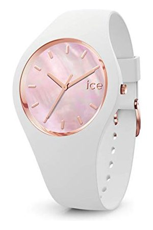 Ice-Watch ICE pearl White pink - dameshorloge met siliconen armband - 017126 (Maat M)