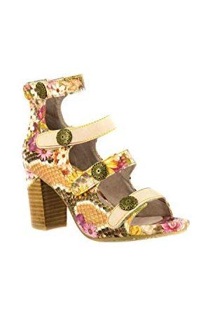 LAURA VITA Dames Becrnieo 309 Peeptoe sandalen, Jaune Jaune Jaune, 39 EU