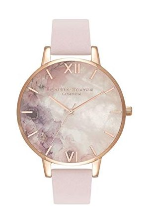 Olivia Burton Dames analoog kwarts horloge met lederen armband OB16SP03