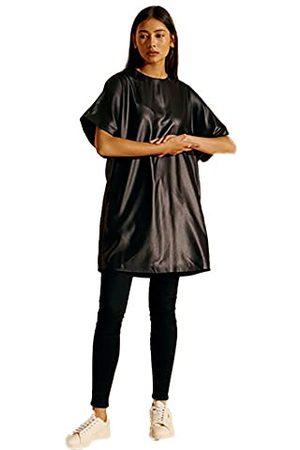 Superdry Dames Rocker T-shirt Casual Jurk, Zwarte look, 36 EU/M