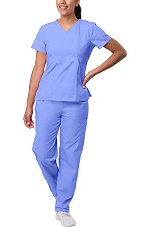 Sivvan Vrouwen S8401cbl4x Medical Scrubs, Ceil Blue, 4XL UK