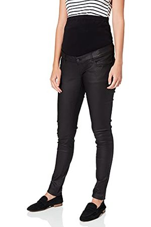 Mama Licious Mlsantos Slim Coated High Back A. Jeans