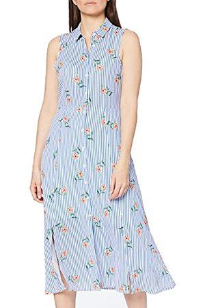 Koton Dames hemdblousjurk met strepen en bloemenprint partyjurk