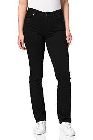 7 for all Mankind Dames The Straight Rinsed Black Jeans