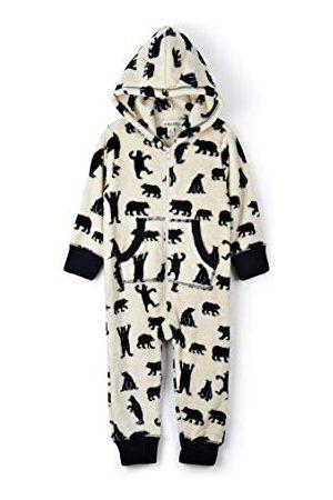 Hatley Little Blue House by Dames Hooded Fuzzy Fleece Familie Jumpuits Onesie, (Kid's Jumpsuit-Zwarte Beren Op Natuurlijk), 2 jaar