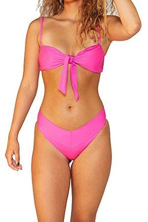 Hurley W geknoopte bandeau-bikinitop voor dames.