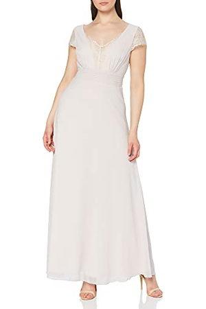 Little Mistress Bianca Lace Trim Maxi Dress voor dames, lilac jurk