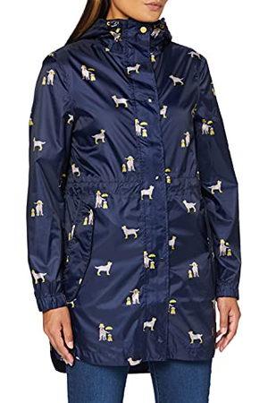 Joules Golightly regenjas voor dames, Navy Honden, 38 NL