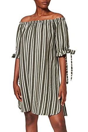 Bonamaison Korte jurk voor dames, met bootkraag en geknoopte halflange mouwen, casual