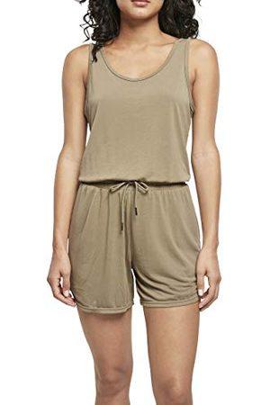 Urban classics Dames dames korte mouwen modal jumpsuit T-shirt
