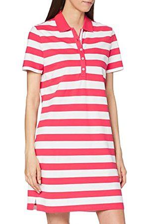 Brax Gweneth jurk voor dames, piqué, strepen, katoenen jurk, polokraag, gestreept,zomer,XXL (Fabrikant maat 44)