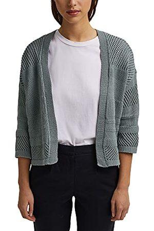 Esprit Met lijn: Pointelle-cardigan, turquoise, L