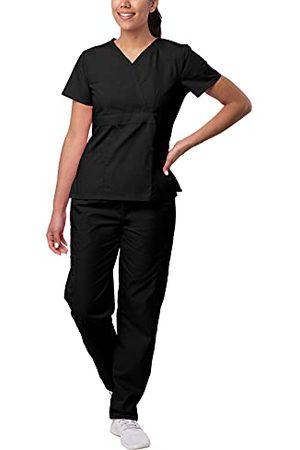 Sivvan Vrouwen S8401blk4x Medical Scrubs, , 4XL UK