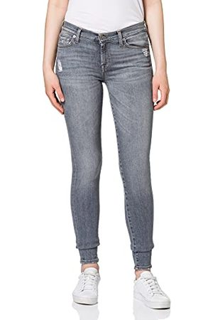 Seven for all Mankind Dames The Slim Illusion Drifted Distressed Skinny Jeans