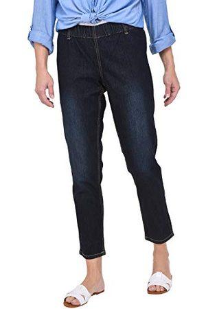 Ulla Popken Grote maten dames slim skinny jeans met riemlussen 69805594