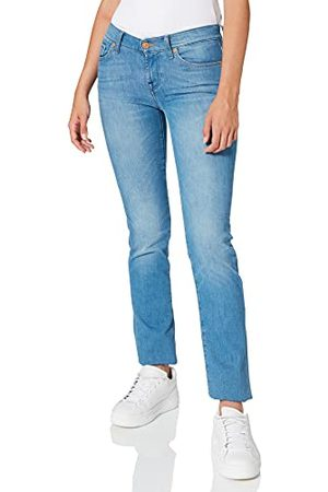 Seven for all Mankind Dames Mid Rise Roxanne Crop Slim Jeans