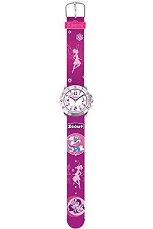 Scout 280378016 Analoog kwartshorloge voor meisjes, met stoffen armband