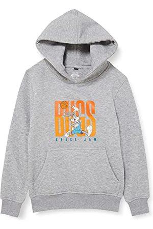 Mister Tee Space Jam Kinderhoodie Bugs Bunny Tune Squad Kids Hoody met print op de voorkant, in zwart en , maat 110 tot 164, Heather Grey, 110 cm