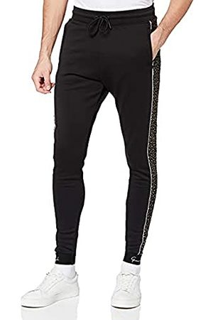Gianni Kavanagh Black Upscale Joggers with Sparkling Gold Trainingspak voor heren