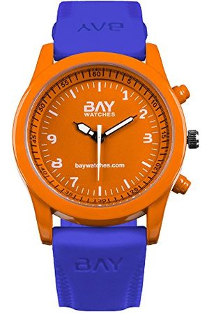 Bay watches – Voor heren en dames oranje en blauw polshorloge analoog South Beach vs Venice.