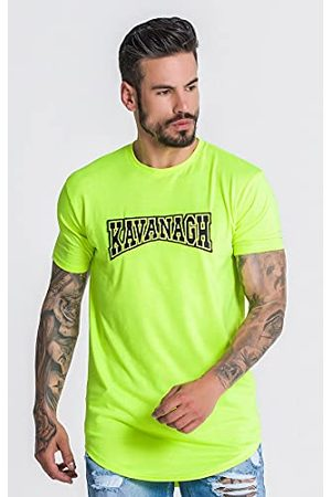 Gianni Kavanagh Neon Yellow Major League T-shirt voor heren