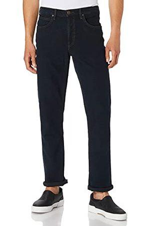Lee Mens Brooklyn Straight Jeans, Blue Black, 30/32