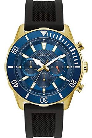 BULOVA Heren chronograaf quartz horloge met siliconen band 98A244