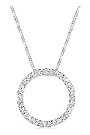 Elli Halsketting 925 Cirkel met Kristal