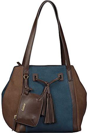 Gabor Dames Granada Pouch Zip Shopper M, M, Mixed Brown, Medium