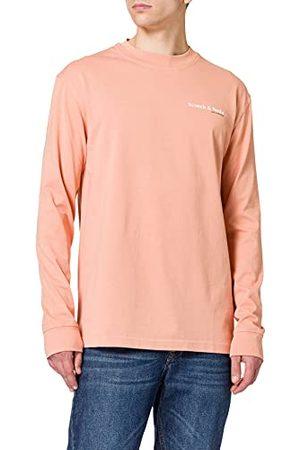Scotch&Soda Heren Organic Cotton Jersey Longsleeve Tee with Chest Print T-shirt