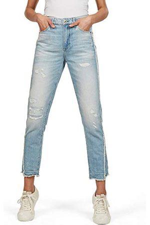 G-Star Dames 3301 Fringe High Ankle Straight Jeans