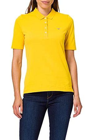 GANT Dames Poloshirts - Origineel Lss Pique poloshirt voor dames, Solar Power Yellow, XS