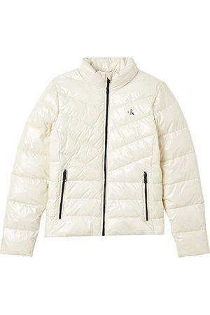 Calvin Klein Dames glanzende Lw gewatteerde Puffer jas