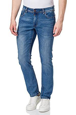 Timezone Heren Slim Eduardotz Jeans, Jeans Blue Wash, 36W x 36L