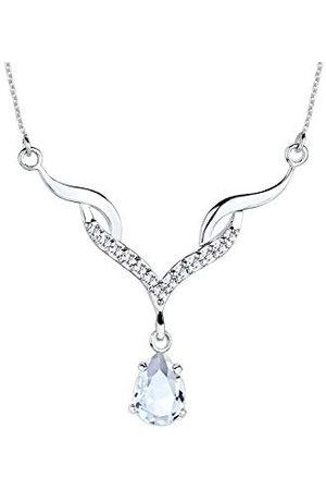 Elli 0109471013 Edel-halsketting voor dames, 925 sterling zilver, druppels van Swarovski-kristallen, 45 cm