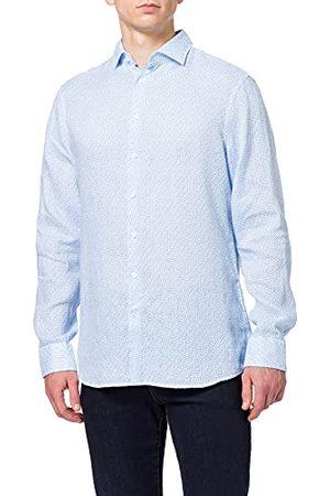 Seidensticker Zijdesticker heren Shaped Fit lange mouwen linnen hemd