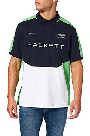 Hackett Hackett Mens AMR Multi SS Polo Shirt, 5DJNAVY/ , XXL